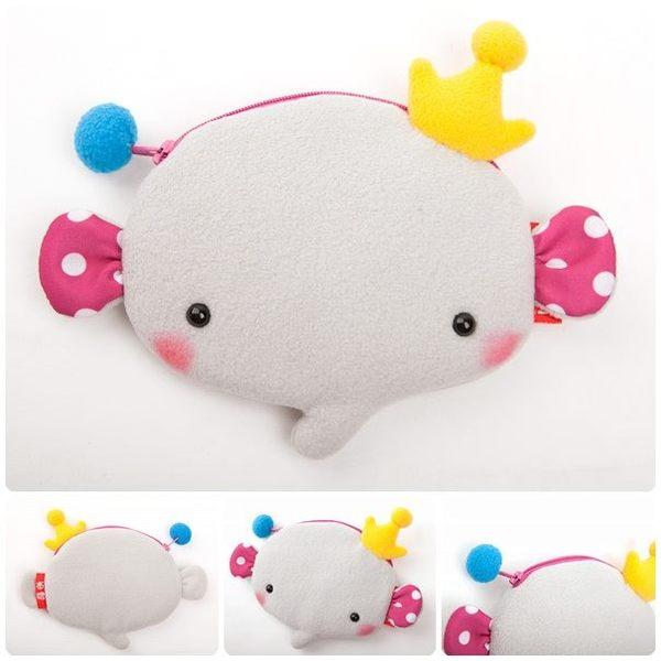 台灣自創品牌 Balloon 熱氣球-皇冠象 動物造型零錢包