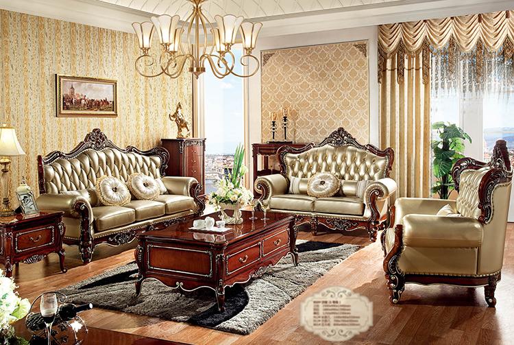 [紅蘋果傢俱] HT-918 新古典系列 1 2 3沙發 歐式 沙發 法式 皮沙發 實木雕刻 奢華沙發