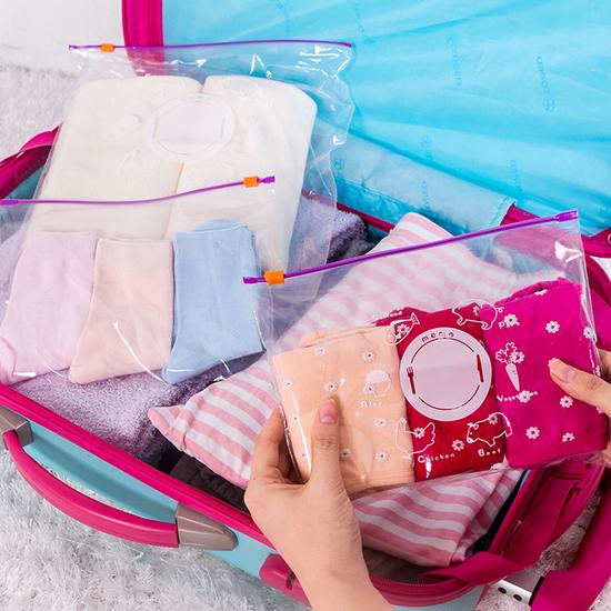 MY COLOR夾鏈自封袋套裝五大五小保鮮食品分類廚房小物零食蔬菜水果N89-1