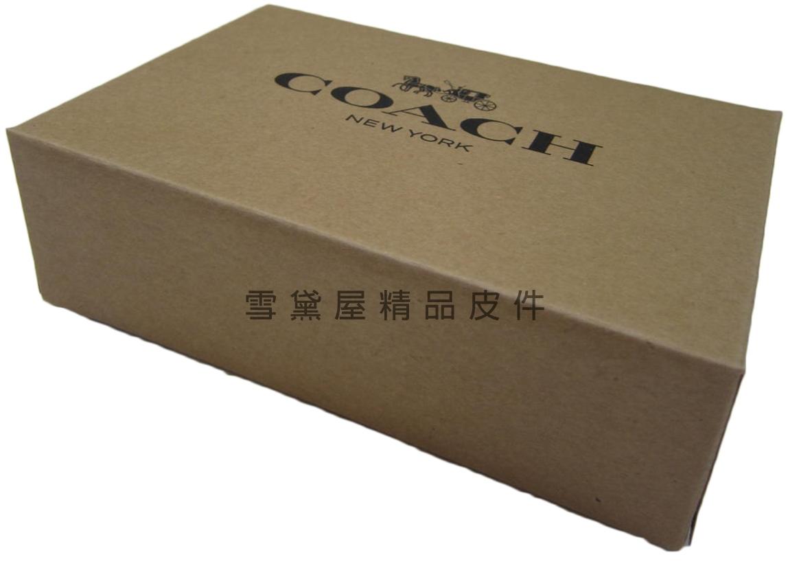 雪黛屋~COACH短夾盒國際正版短型皮夾小型包小手拿包紙盒進口厚紙材質可摺疊收納展開為盒8889
