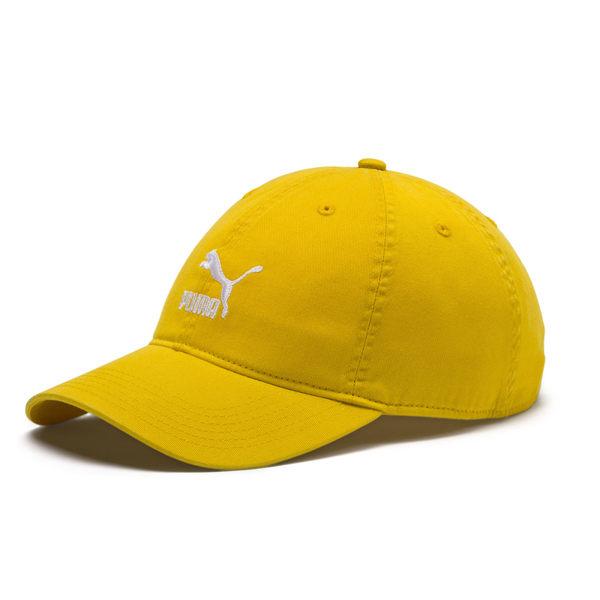 Puma 黃色 運動帽 老帽 刺繡 logo 六分割帽 6-Panel 經典棒球帽 運動帽 棒球帽 02148413