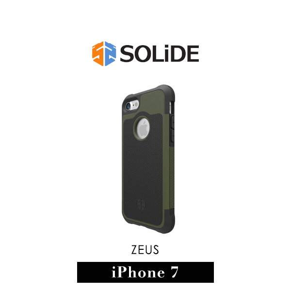 【G2 STORE】SOLiDE ZEUS 軍規級 iPhone 7 防摔 保護殼 軍綠