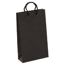 荷包袋手提紙袋大4K黑色無印長型