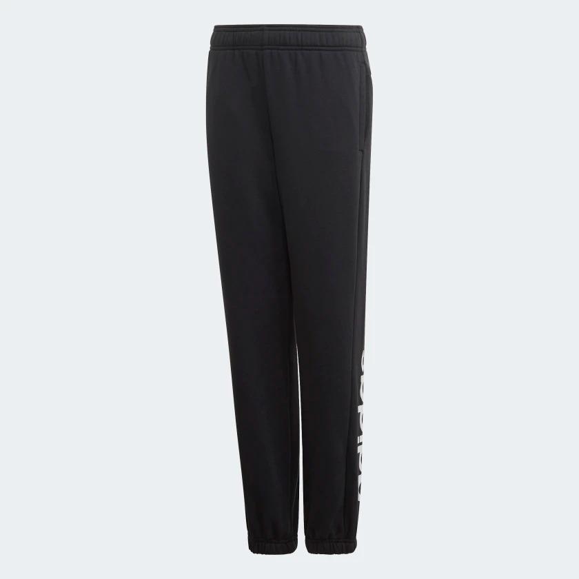 ADIDAS Essentials Linear Pants 童裝 大童 長褲 休閒 慢跑 縮口 舒適 基本款 黑【運動世界】DV1806