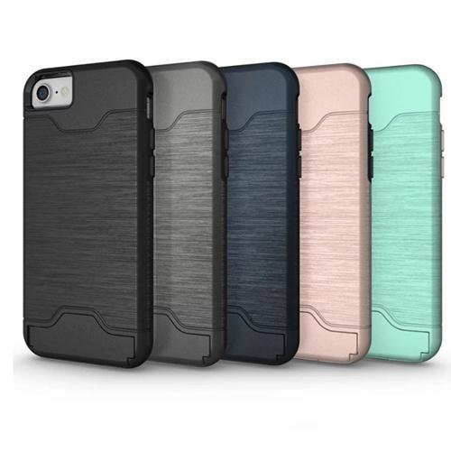 [數位風潮] 拉絲 插卡 手機殼 邊框 保護套 支架 手機套 蘋果 i7 6s 蘋果 iphone 7 plus 三星 s7 s7 edge