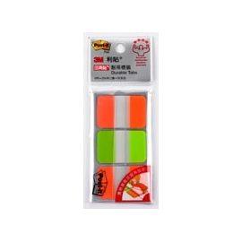 3M 686-1亮橙/綠色耐用標籤