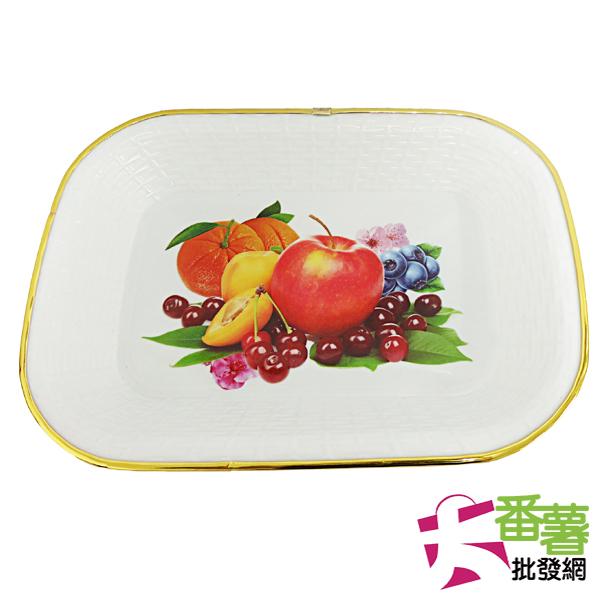 金邊長方水果盤33*22cm [30-1]-大番薯批發網