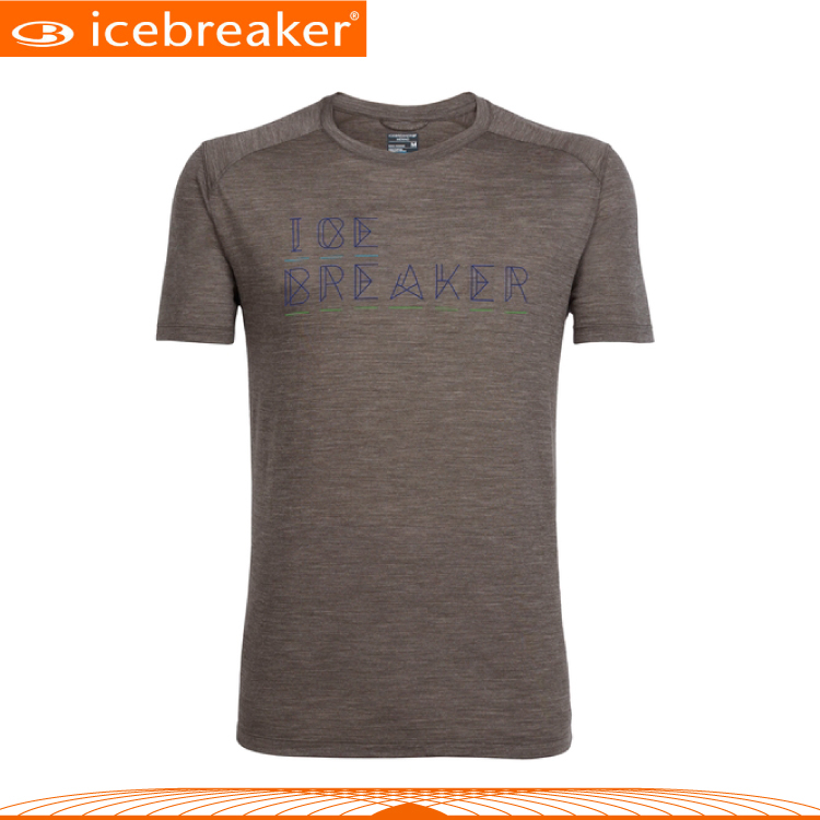 【Icebreaker 男 COOL-LITE圓領短袖上衣JN130《紡褐橘》】103762/快乾機能服/透氣衫/運動