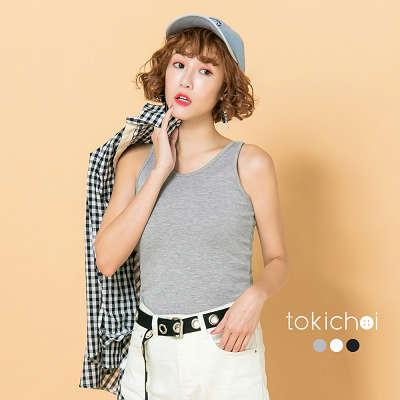 東京著衣-多色肩剪接無袖小背心-S.M(171443)