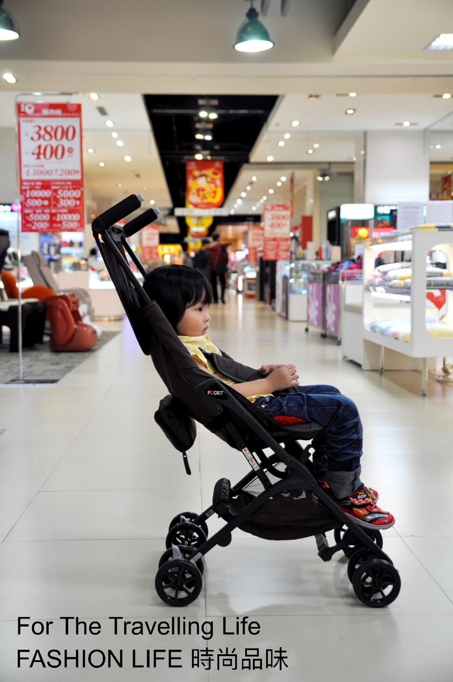 時尚品味嬰兒車出租日本口袋型推車POCKIT新生兒時尚棕色推車出租