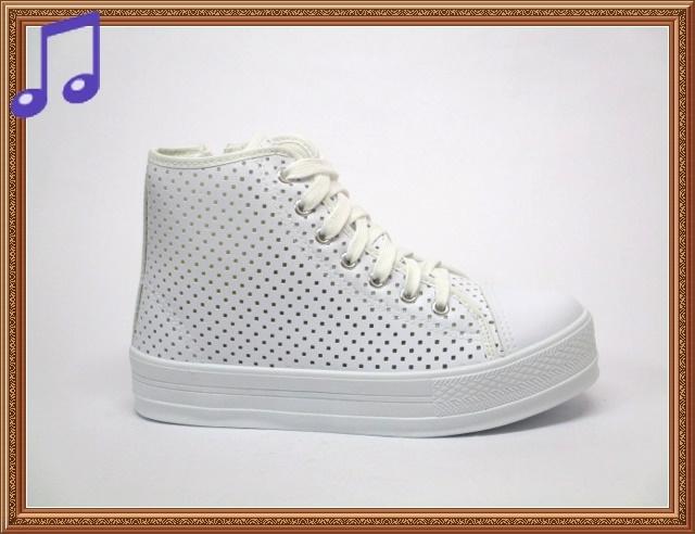 18068愛麗絲的最愛太陽的後裔宋慧喬鏤空高幫白色網面鬆糕鞋韓版百搭休閒鞋