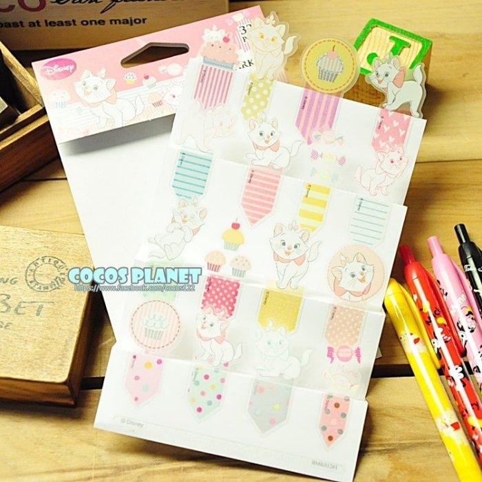 迪士尼書籤貼紙瑪麗貓瑪莉貓書籤貼紙便利貼貼紙書籤05 COCOS HP040
