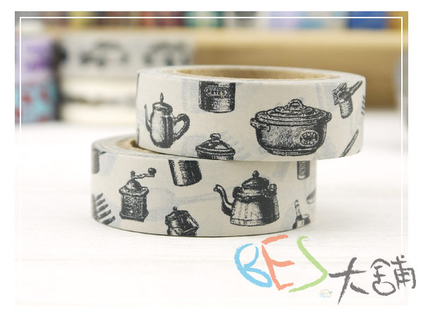 紙膠帶-復古圖案和紙膠帶-廚具-