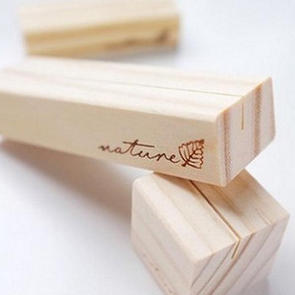 超值文具3件54折BlueCat復刻NATURE小樹葉方塊長條木質便簽夾名片夾照片夾留言夾