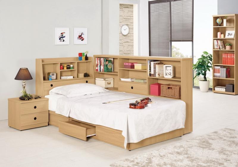 8號店鋪森寶藝品傢俱665-3 5 7達拉斯3.5尺書架型單人床不含床墊單邊抽屜