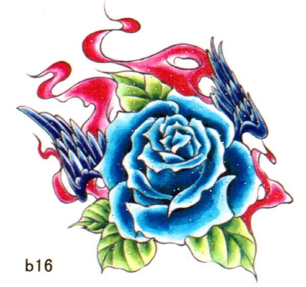 薇嘉雅   花     超炫圖案紋身貼紙 b16
