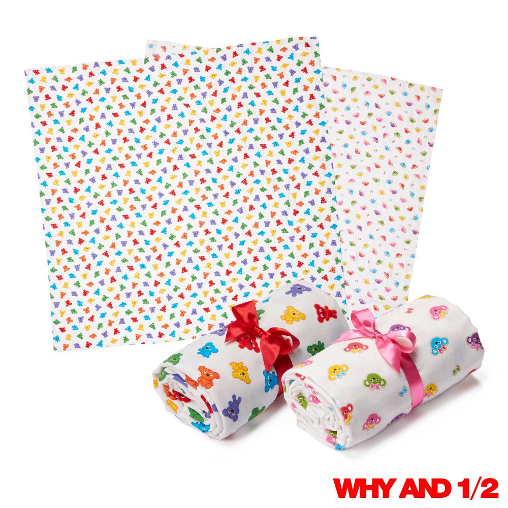 WHY AND 1 2 mini細緻三層紗包巾浴巾被子多色可選