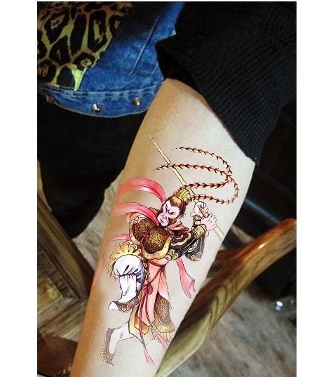 薇嘉雅  齊天大聖 花臂圖案紋身貼紙 AX144