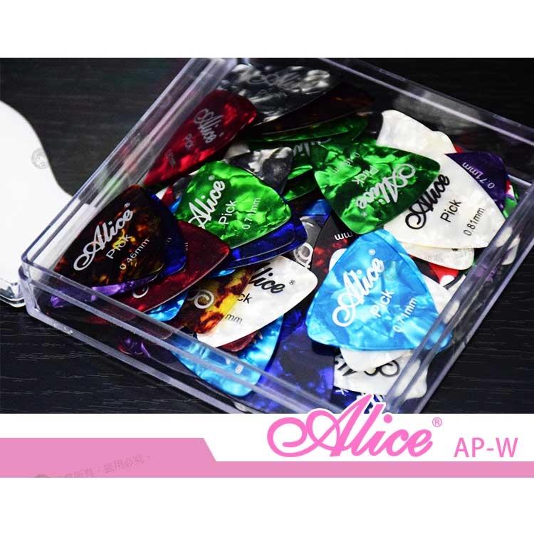 【小麥老師樂器館】彈片 ALICE AP-W (買4送1) 大三角形 PICK 木吉他 烏克麗麗 電吉他【C21】