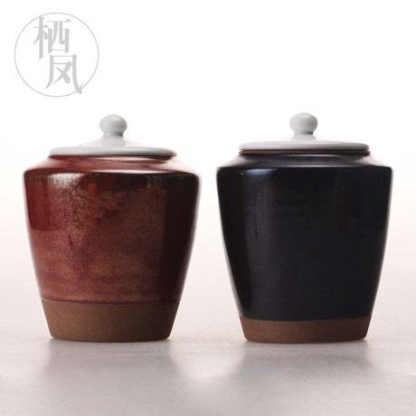 粗陶普洱茶茶葉罐
