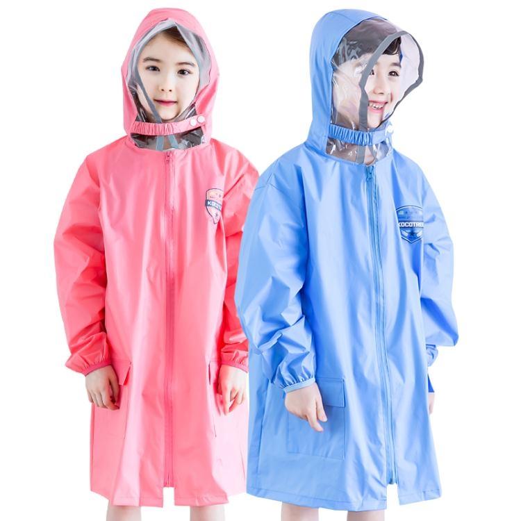 BG兒童雨衣男童女童小學生寶寶雨披幼兒小孩雨衣帶書包位加厚防水