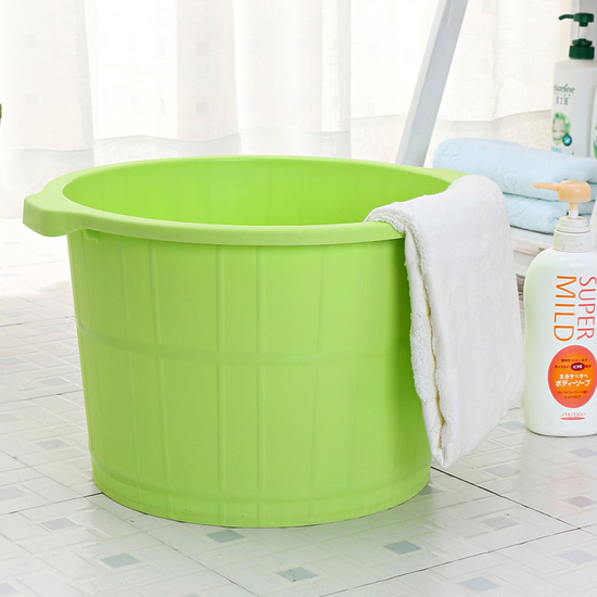 ♚MY COLOR♚加高按摩底泡腳桶 加厚 洗腳 足浴 洗澡 養生 健康 提手 移位 居家 臉盆【A01-7】