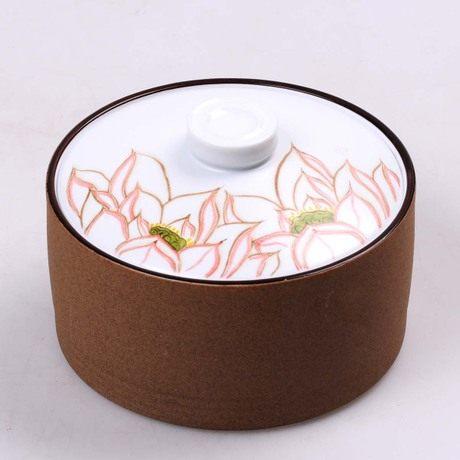 純手工繪畫陶瓷茶罐