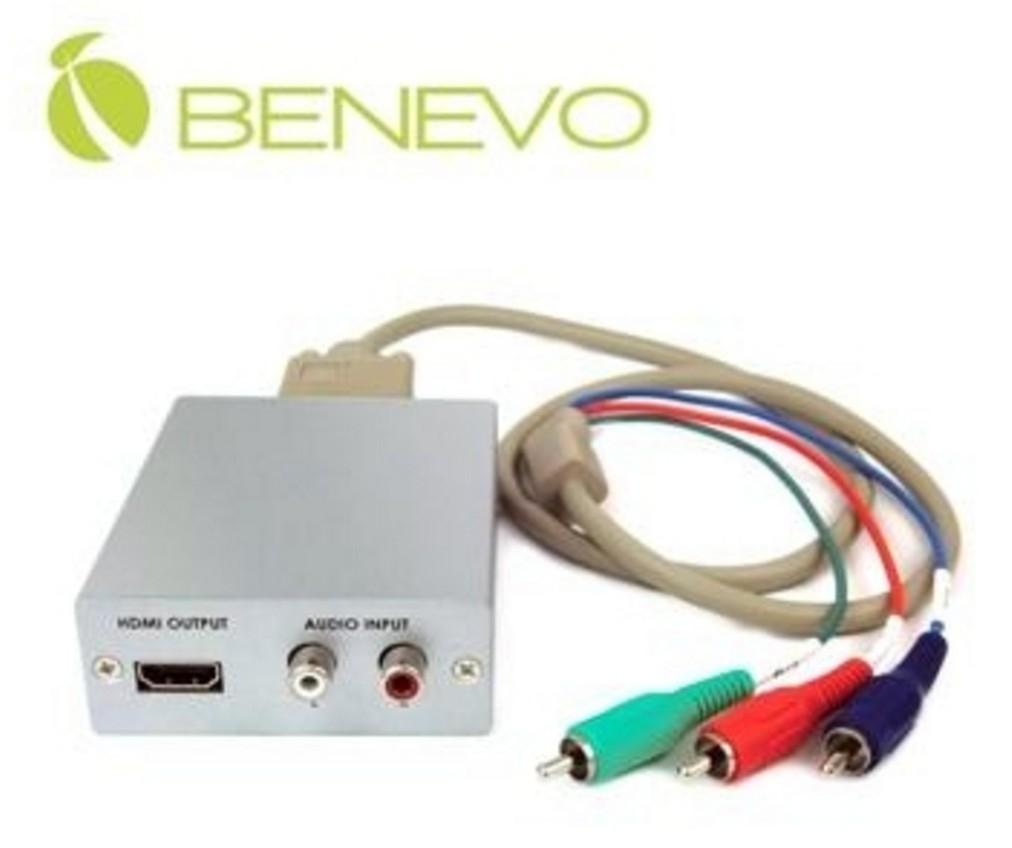 新竹超人3C BENEVO專業型BVC1620H高解析支援雙聲道轉換VGA色差轉HDMI訊號轉換器