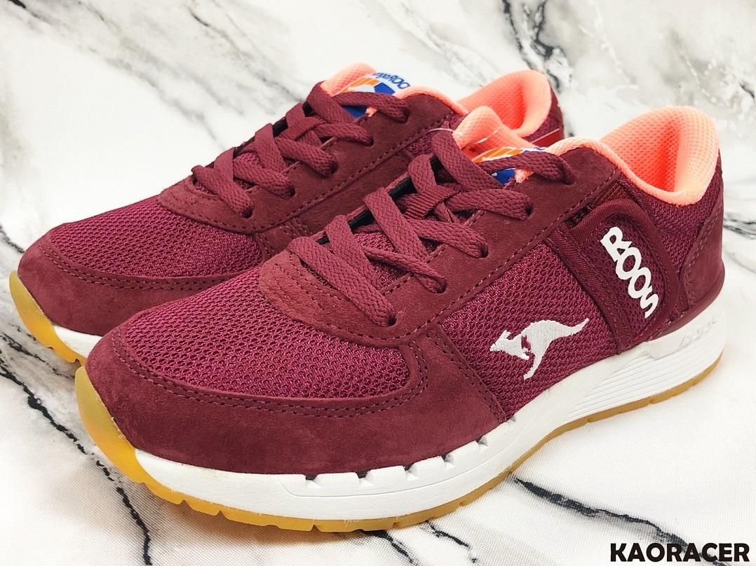KangaROOS 女款酒紅色休閒鞋-NO.KW91022