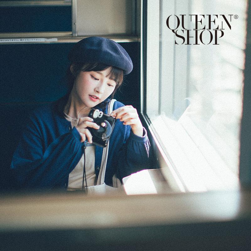 Queen Shop【07020551】素面草編貝蕾帽*現+預*