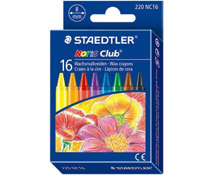 STAEDTLER 施德樓 快樂學園 無毒安全防水油腊筆 16色