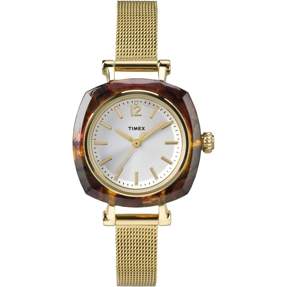 【TIMEX】天美時 風格系列 簡約手錶(銀/金色 TXTW2P69900)