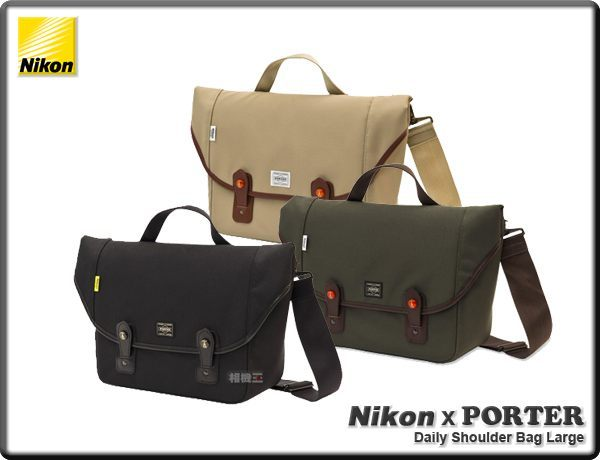 ★相機王★相機包Nikon X Porter Daily Shoulder Bag Large﹝吉田包﹞L尺寸 黑色!