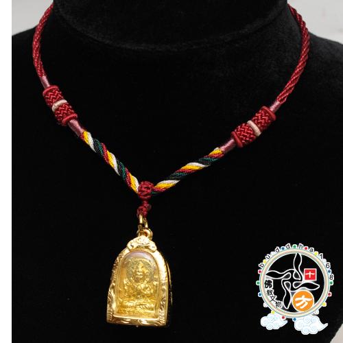 四臂觀音佛牌五色線項鍊十方佛教文物