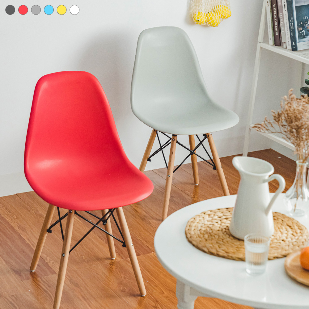 樂嫚妮 3入北歐復刻餐椅子 咖啡椅 休閒椅 辦公椅