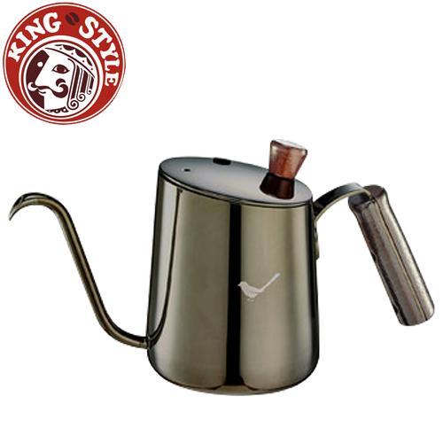 金時代書香咖啡Tiamo青鳥斜口細口壺鈦黑
