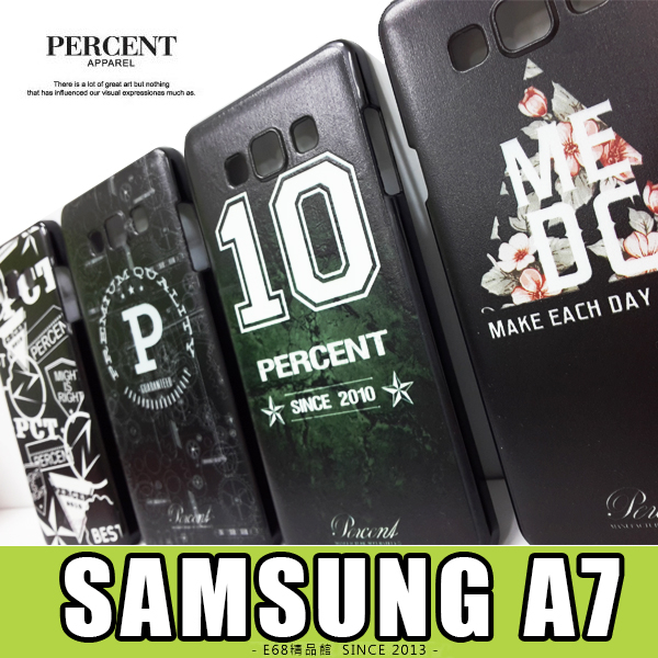 E68精品館三星SAMSUNG A7台灣品牌PERCENT彩繪設計保護殼硬殼保護套手機殼背蓋A700