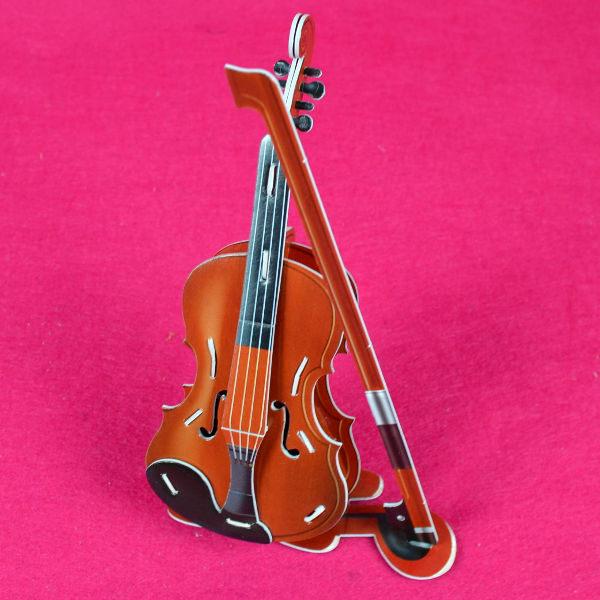 佳廷家庭親子DIY紙模型3D立體拼圖贈品獎勵品專賣店天籟之音樂器袋裝樂器2大提琴Calebou卡樂保
