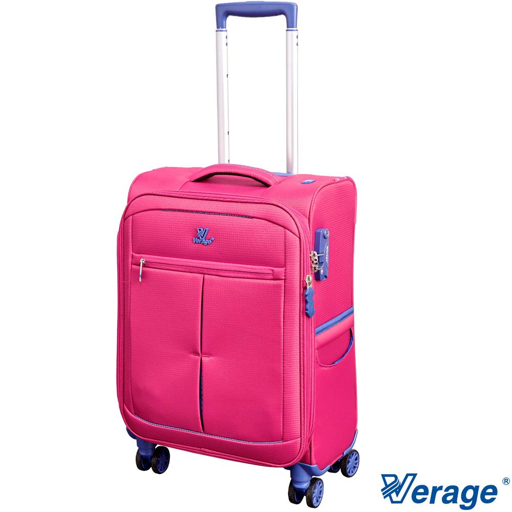 Verage 19吋超輕量經典格紋環保旅行箱三代紅