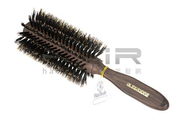 日本原裝ALEKi ROLL頂級豬鬃毛圓梳梳子吹捲直蓬鬆感HAiR美髮網