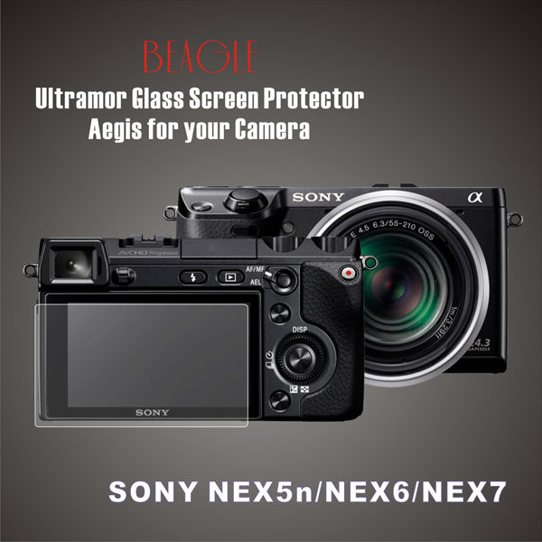 (BEAGLE)鋼化玻璃螢幕保護貼 SONY NEX-5n/NEX-6/NEX-7 專用-可觸控-抗指紋油汙-耐刮硬度9H-防爆-台灣製