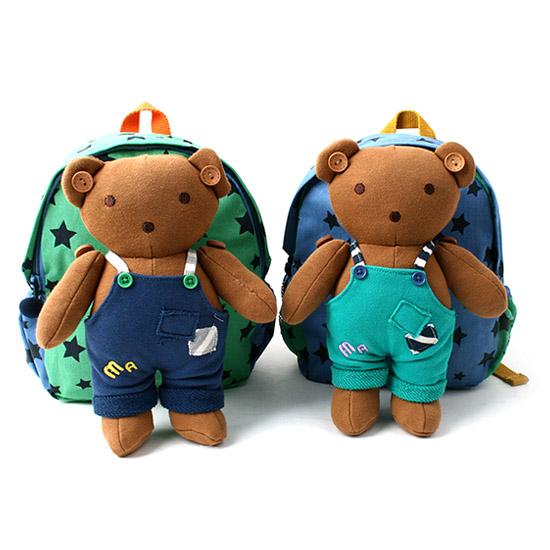 韓國Winghouse吊帶小熊娃娃防走失兒童背包MA0251