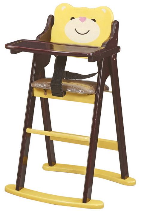 IS空間美學韓式維尼熊折合寶寶椅胡桃色