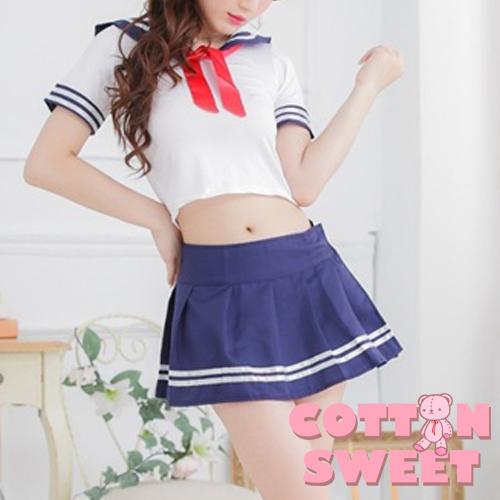 棉花甜日系水手服制服誘惑學生服短裙