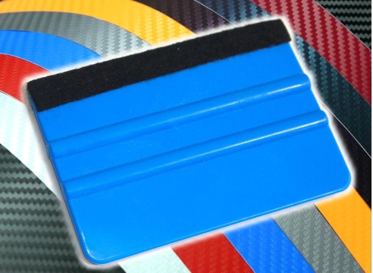 洪氏雜貨雙面帶布刮板藍色單入279A064貼膜刮刀貼膜工具刮刀刮板牛津橡膠刮板