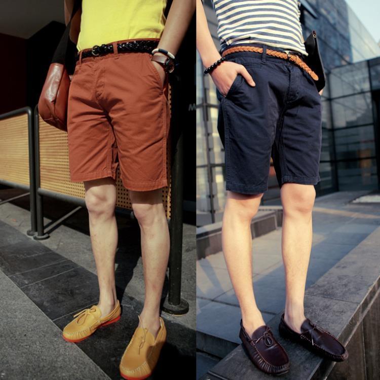 超豐國際短褲男夏季寬松五分褲青年韓版潮男裝修身純棉5分褲