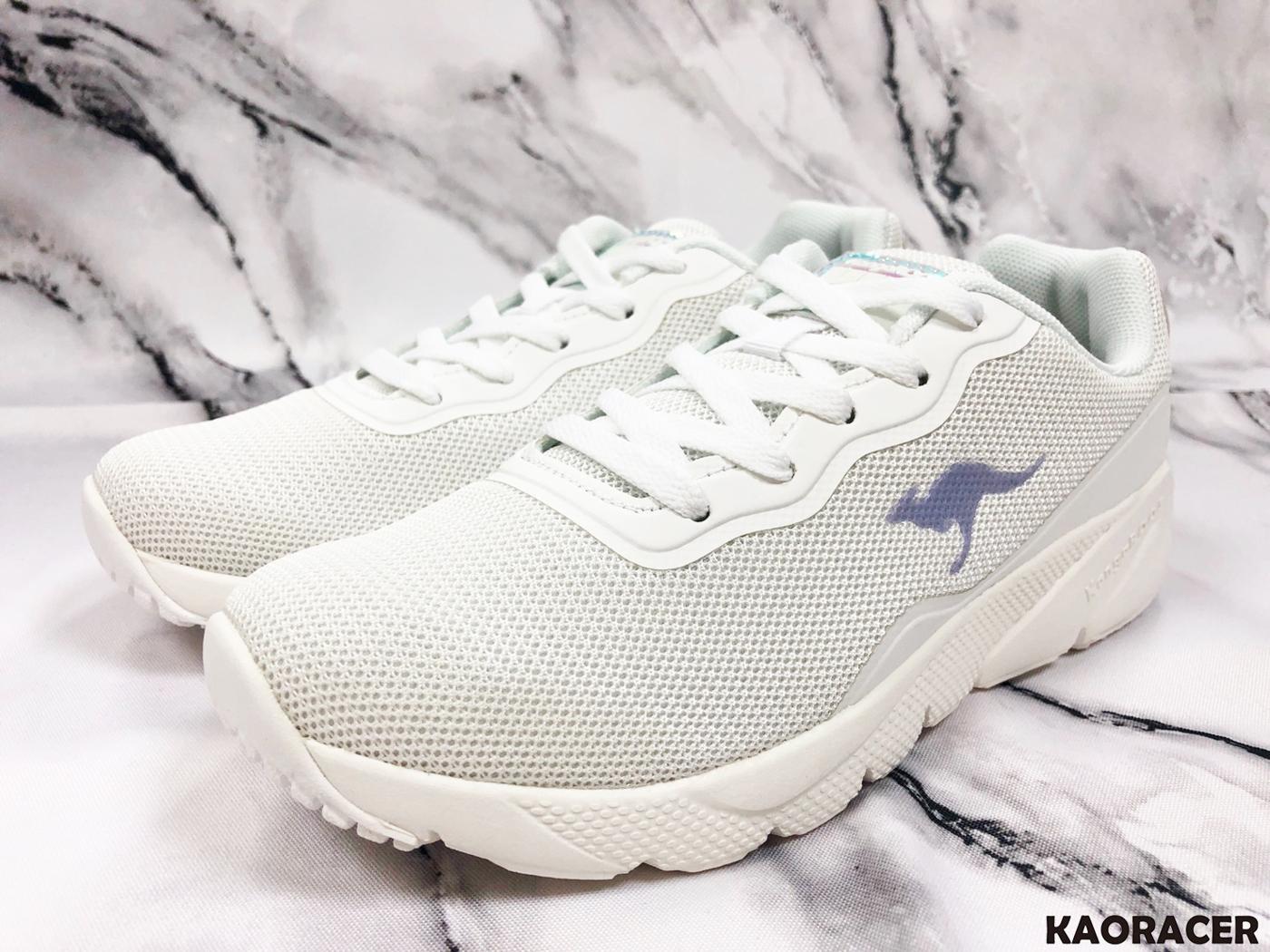 KangaROOS 女款白色編織運動鞋-NO.KW91099