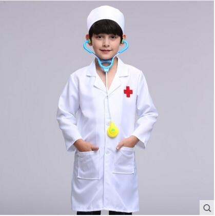 熊孩子☃兒童護士服演出服小醫生職業扮演表演服裝幼兒園醫院白大褂(醫生服)