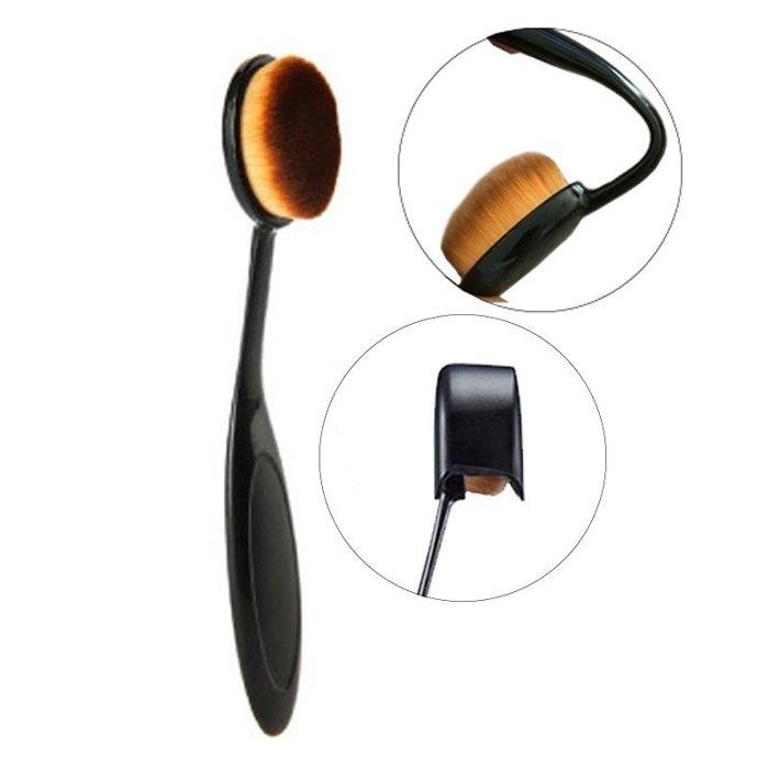 新款韓國牙刷型 粉底刷 bb霜刷初學者萬能刷 化妝刷 彩妝工具 洗臉刷