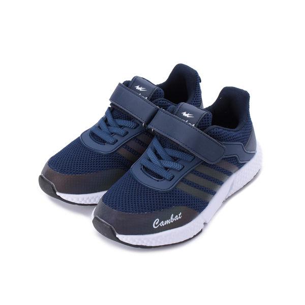 COMBAT 飛織反光炫彩運動鞋 藍 大童鞋 鞋全家福